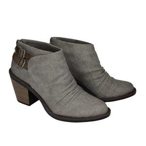 "Blowfish ""leben"" gray Canvas Bootie NEW ankle boot"